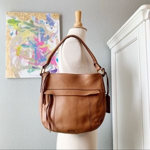 Fossil Bags - Fossil Molly Small Leather Hobo In Saddle Brown!
